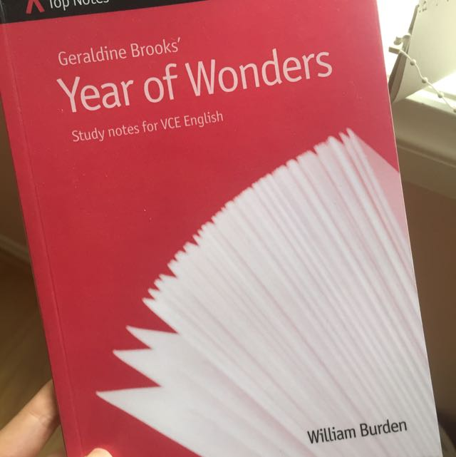 VCE ENGLISH Top Notes Year Of Wonders