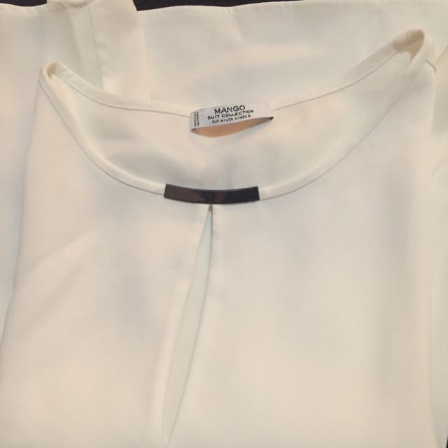 White Blouse Mango Suit Size M