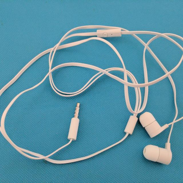 White Ear Phone