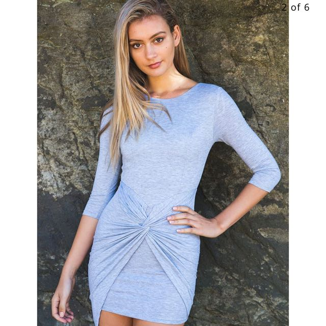 White Fox Boutique - Northern Lights Grey Dress
