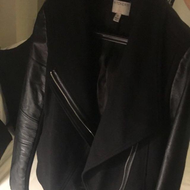Witchery Leather Sleeve Jacket