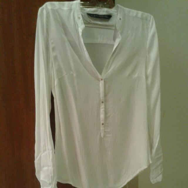 ZARA Woman White Blouse