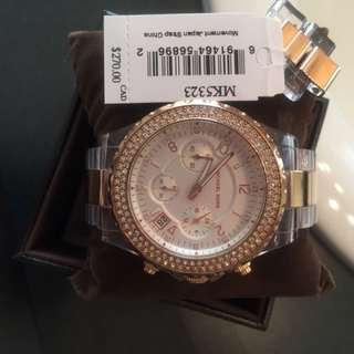 Michael Kors Rose Gold/clear Watch!