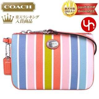 COACH Wristlet Pouch Multi Colour