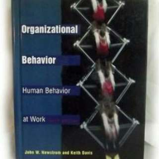 Organizational behavior textbooks carousell malaysia organizational behavior human behavior at work by newstrom and david free graduate bear fandeluxe Image collections
