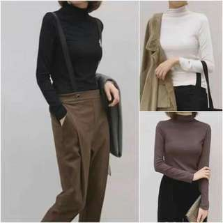 PO | Premium Quality High Neck Knitted Long Sleeves Top