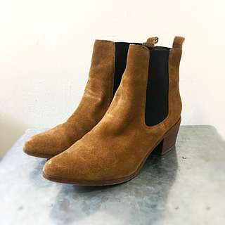 Topshop Real Suede Chelsea Boots Size 40/9.5