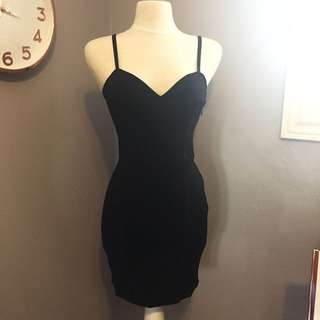 H&M Black Thick Knit Bustier Dress NWT (new With Tags) Size 6/8