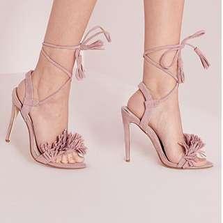 MissGuided Blush Tassel Heels