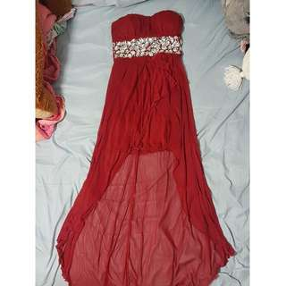 Specklers Red High Low Dress Size 7