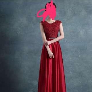 Prom Dress Bridesmaid Dress Maroon Gown