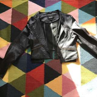 Leather Jacket Genuine 100% Black