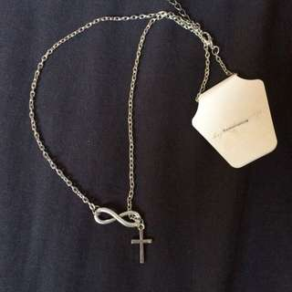 Silver Infinity Cross Necklace New With Tag