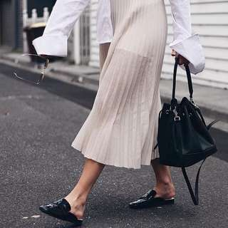 Interval Pleated Skirt
