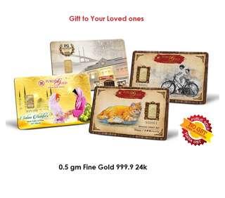 0.5gm Fine Gold 999.9 24K LBMA