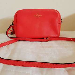 Kate Spade Red Orange Sling Bag