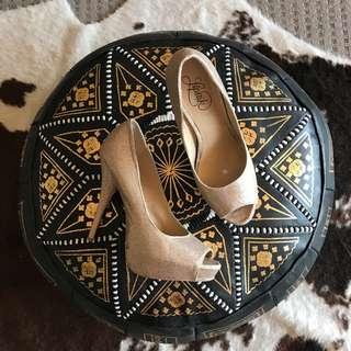 Rose Gold Sequins Heels