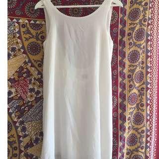 White Toga Style Dress