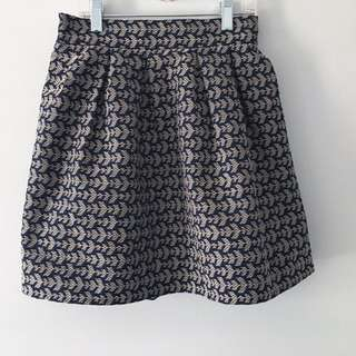 Patterned flare skirt from Korea
