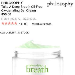 Philosophy Take A Deep Breath Oil-Free Gel Moisturiser