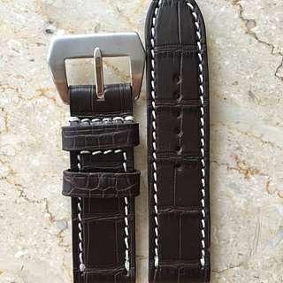 TheWatchBoys Vintage Dark Brown Alligator Straps (24mm Lug)