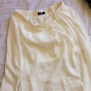 White Maxi Skirt With Slit Size 12
