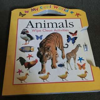 Nervous Writer? Animals Wipe Clean Writing/Activities
