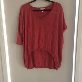 Coral Knitted Shirt