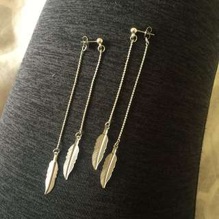 Silver Dangly Earrings