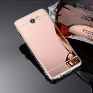 🚚 創意款samsung A7全包電鍍鏡面透明防摔殼