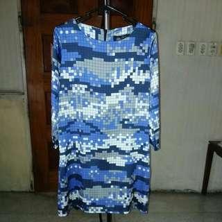 Oleg Cassini Checkered Mini Dress