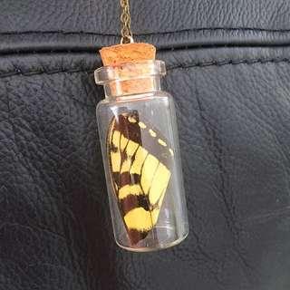 Butterfly Cork Jar Necklace