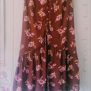 Boho Printed Midi Skirt