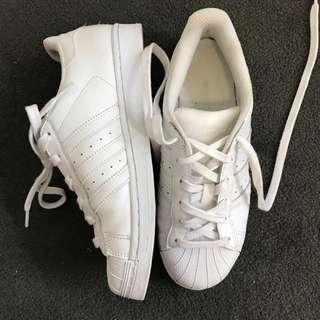 Adidas Superstars Size 38 2/3