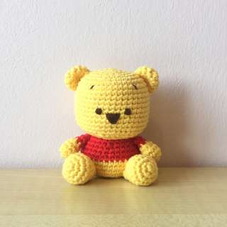 Winnie the Pooh (with desired name tag or message tag)