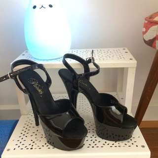Size 6 Black Pleasure Pole Dancing Heels