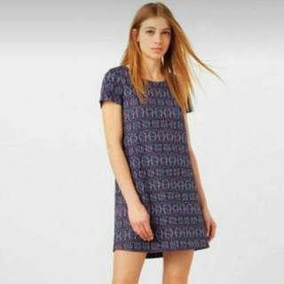 Mango Patterned Shift Dress