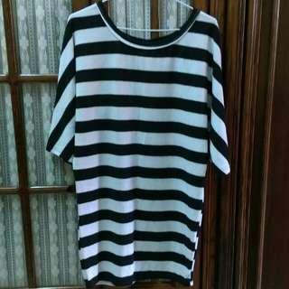 針織線條長板洋裝  (可換物)
