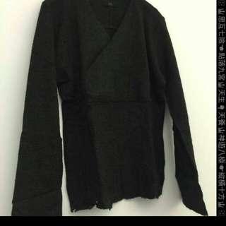 🚚 45RPM設計師剪裁上衣,黑灰,2號,M~L號.100%羊毛