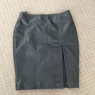Leather Bec And Bridge Skirt Size 8
