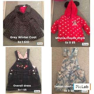 Girls Clothing Size 000-1