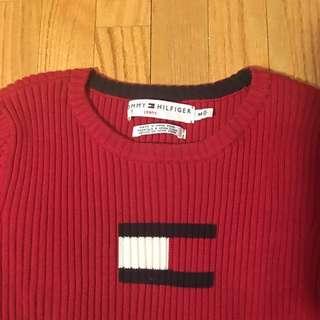 Vintage Tommy Hilfiger Ribbed Knit Sweater - Medium