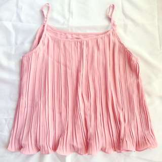 Pink Pleated Camisole