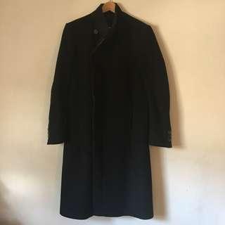 Zara mens large black winter coat