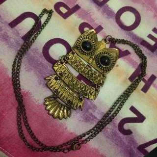 Owl Necklace Kalung
