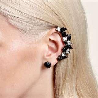 Mimic Crystal Varsity Ear Cuff