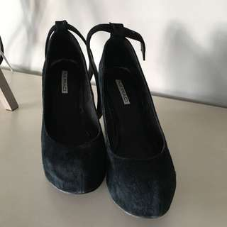 Black Size 37 Wedge Shoe