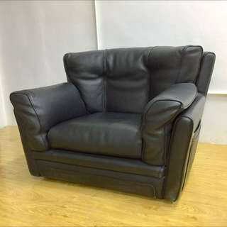 Genuine Leather Black Single Seater Armchair