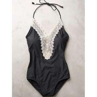Preloved Black One Piece Swimwear