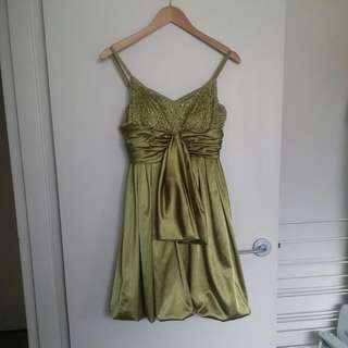 Ladies Gorgeous Satin Beaded Dress By Gatsby